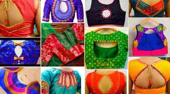 Latest Blouse Designs for Silk Sarees / Patch Work Designs – Blouse Designs