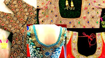 Heavy Bridal Maggam Work Blouse Designs / Maggam Work Designs – Blouse Designs