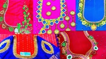 Latest Maggam Work Blouse Designs / Aari work Blouse Designs – Blouse Designs