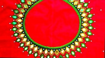 New Designer Aari Mirror Work Blouse Designs – Blouse Designs