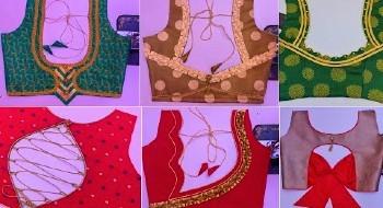 Latest Blouse Designs For Plain Sarees – Blouse Designs