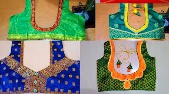 Designer Blouse Designs With Patch Work – Blouse Designs