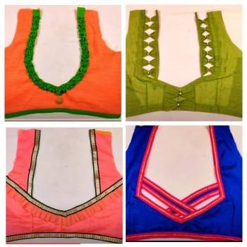 New Model Designer Blouse Back Neck Designs  – Blouse Designs