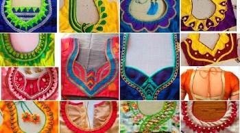 Latest Designer Patch Work Blouse Back Neck  Designs – Blouse Designs