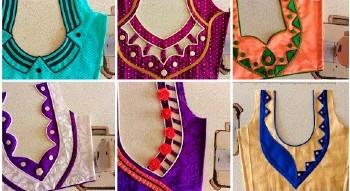 20 New Designer Back Neck Blouse Designs –  Blouse Designs