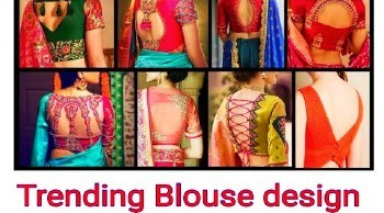 Trending Designer Back  Neck Blouse Designs – Blouse Designs