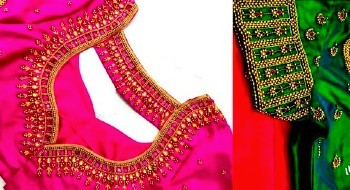 Best Aari Maggam Work Bridal Blouse Back Neck Designs – Blouse Designs