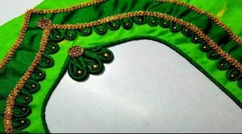 Designer Model Blouse Back Neck Design Cutting and Stitching – Blouse Designs