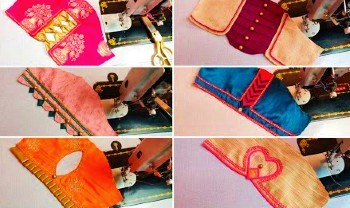 New Designer Sleeves For Patch Work Blouse Designs – Blouse Designs