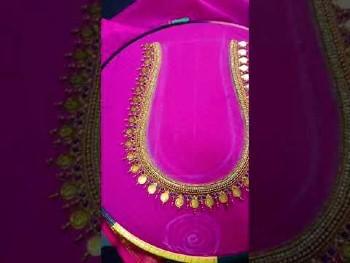 Latest Kasu coin Maggam Work Blouse Designs – Blouse Designs