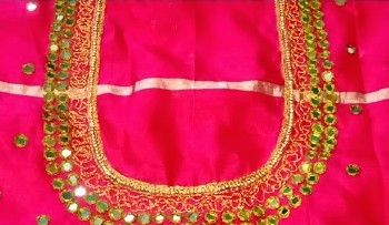 Simple Mirror Work Blouse Designs / Maggam Work  – Blouse Designs