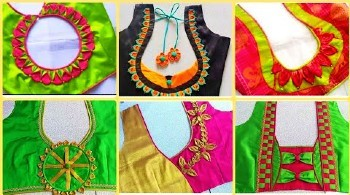 Latest Silk Blouse Back Neck Designs – Blouse Designs