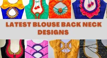 Trending Back Neck Blouse Designs – Blouse Designs