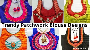 2021 New Patch Work Blouse Designs – Blouse Designs