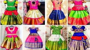New Traditional Pattu Pavada Designs For Kids – Blouse Designs